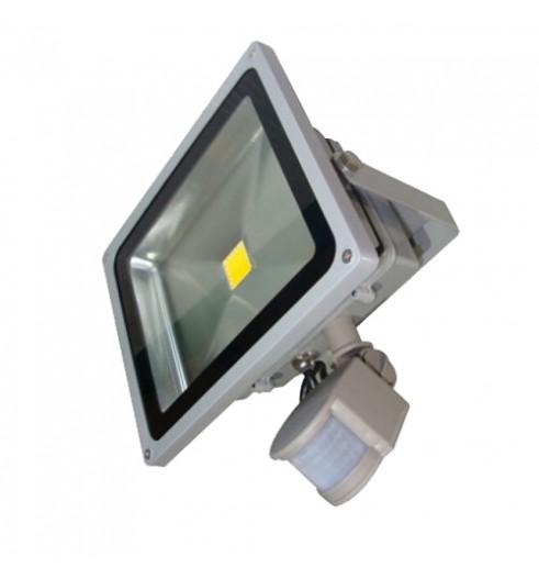 Светодиодный прожектор LED 10Вт 6200К 920Лм, IP66 с датчиком движения