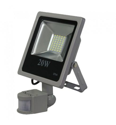 Светодиодный прожектор LED 20Вт 6200К 1810Лм, IP66 с датчиком движения