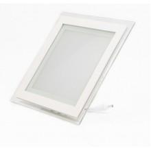Светодиодный LED светильник встраиваемый «Квадрат» 12W glass, 4000К