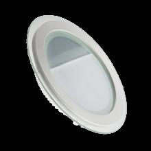 """Светодиодный встраиваемый светильник """"Круг"""" 12Вт серии «Glass» в компактном корпусе,"""