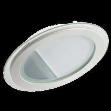 Светодиодный LED светильник встраиваемый «Круг» 18W glass 3000К