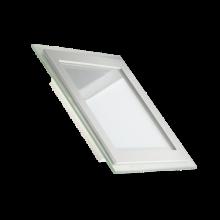 Светодиодный LED светильник встраиваемый «Квадрат» 18W glass, 3000К,